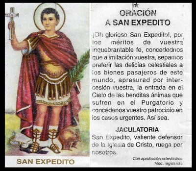 Oración a San Expedito
